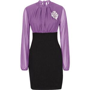 BODYFLIRT Shirtkleid langarm in lila von bonprix