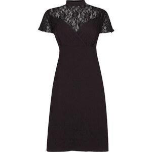 RAINBOW Shirtkleid mit Spitze/Sommerkleid kurzer Arm in schwarz von bonprix
