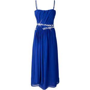 BODYFLIRT Abendkleid ohne Ärmel in blau von bonprix
