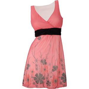BODYFLIRT Shirtkleid ohne Ärmel in pink (V-Ausschnitt) von bonprix
