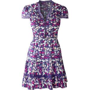 BODYFLIRT Kleid/Sommerkleid kurzer Arm in lila von bonprix