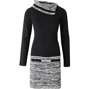 BODYFLIRT boutique Strickkleid langarm in schwarz von bonprix