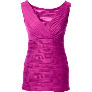 BODYFLIRT Top ohne Ärmel in pink (V-Ausschnitt) für Damen von bonprix