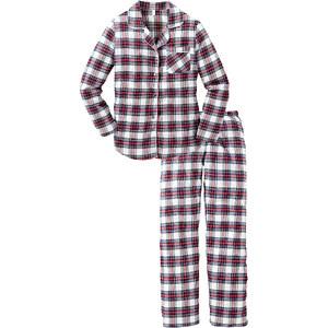 bpc bonprix collection Flanell Pyjama langarm in weiß für Damen von bonprix