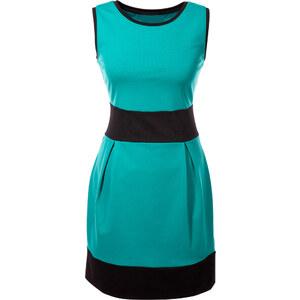 BODYFLIRT Shirtkleid ohne Ärmel in grün (Rundhals) von bonprix
