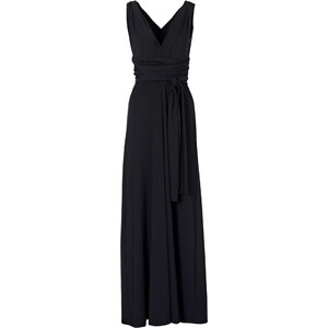 BODYFLIRT boutique Kleid ohne Ärmel in schwarz (V-Ausschnitt) von bonprix