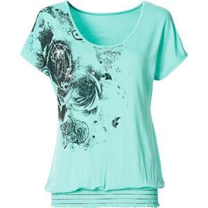 BODYFLIRT Shirt kurzer Arm in blau für Damen von bonprix