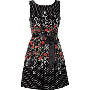 BODYFLIRT Kleid mit Gürtel ohne Ärmel in schwarz von bonprix