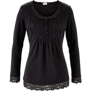 bpc bonprix collection Langarm-Shirt in schwarz für Damen von bonprix