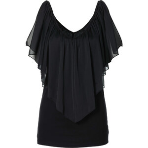 BODYFLIRT boutique T-Shirt kurzer Arm in schwarz für Damen von bonprix