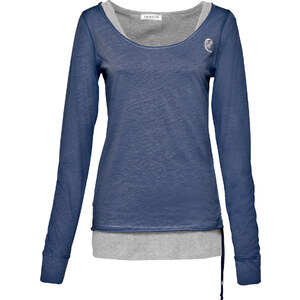 RAINBOW Shirt langarm in blau (Rundhals) für Damen von bonprix
