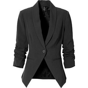 RAINBOW Stretch-Blazer langarm in schwarz für Damen von bonprix