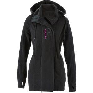bpc bonprix collection Fleece-Langjacke langarm in schwarz für Damen von bonprix