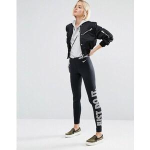 Nike - Just Do It - Leggings avec logo à la taille - Noir - Noir