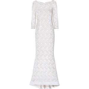 BODYFLIRT boutique Kleid 3/4 Arm in weiß von bonprix