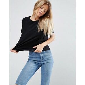 ASOS - T-shirt droit décontracté - Noir