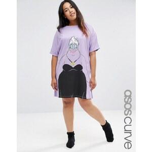 ASOS CURVE - Disney - T-shirt de nuit à imprimé Ursula - Violet