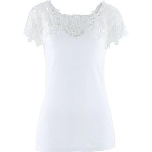 bpc selection Shirt in weiß (V-Ausschnitt) für Damen von bonprix