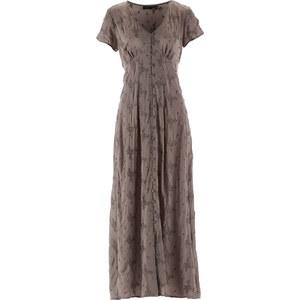 bpc selection Langes Kleid/Sommerkleid kurzer Arm in grau von bonprix