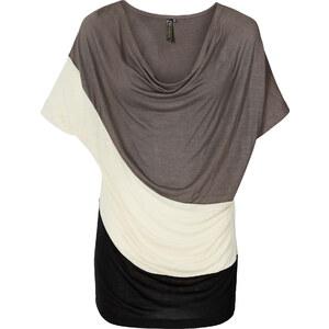 BODYFLIRT boutique Shirt kurzer Arm in grau für Damen von bonprix