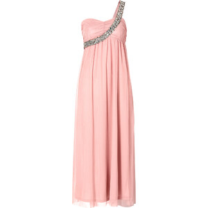 BODYFLIRT One-Shoulder-Maxikleid ohne Ärmel in rosa von bonprix