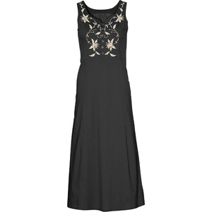 bpc selection Kleid mit Stickerei ohne Ärmel in schwarz von bonprix