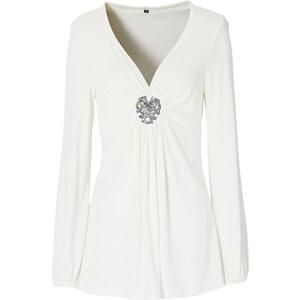 BODYFLIRT Langarmshirt in weiß für Damen von bonprix