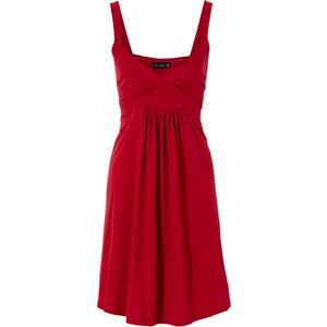 BODYFLIRT Shirtkleid ohne Ärmel in rot (V-Ausschnitt) von bonprix