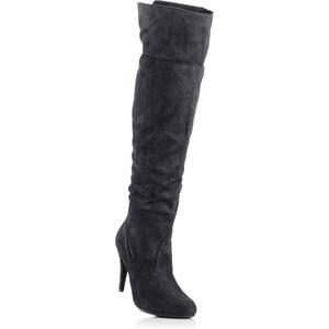BODYFLIRT Overknee Stiefel in schwarz für Damen von bonprix