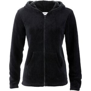 bpc bonprix collection Basic Fleece-Jacke langarm in schwarz für Damen von bonprix