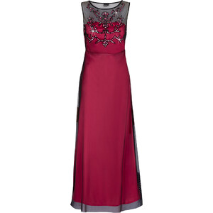 BODYFLIRT Abendkleid ohne Ärmel in pink (Rundhals) von bonprix