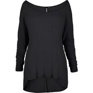 RAINBOW Oversized-Shirt mit Nieten 7/8 Arm in schwarz für Damen von bonprix