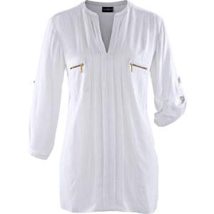 bpc selection Bluse 3/4 Arm in weiß (V-Ausschnitt) von bonprix