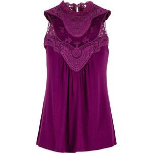 BODYFLIRT Shirtbluse ohne Ärmel in lila für Damen von bonprix