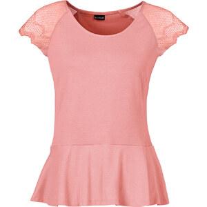 BODYFLIRT Shirt kurzer Arm in rosa (Rundhals) für Damen von bonprix