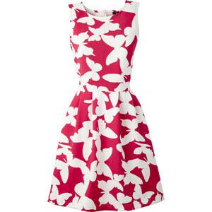 BODYFLIRT boutique Kleid in Scubaoptik Angela ohne Ärmel in rot von bonprix