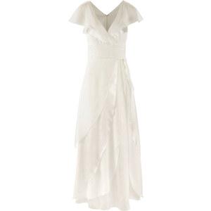 bpc bonprix collection Brautkleid/Sommerkleid kurzer Arm in weiß (V-Ausschnitt) von bonprix