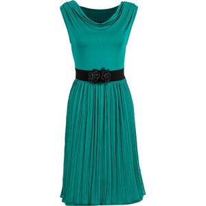 BODYFLIRT Kleid ohne Ärmel in grün (Wasserfall-Ausschnitt) von bonprix