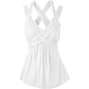 BODYFLIRT boutique Shirt ohne Ärmel in weiß für Damen von bonprix