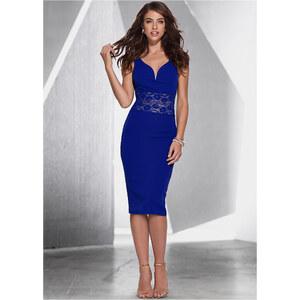 BODYFLIRT boutique Kleid mit Spitze in blau von bonprix