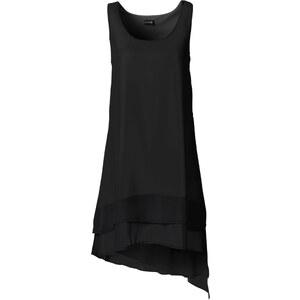 BODYFLIRT Chiffon-Kleid ohne Ärmel in schwarz von bonprix
