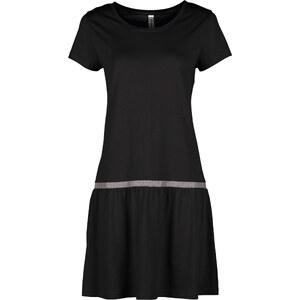 RAINBOW Shirtkleid/Sommerkleid kurzer Arm in schwarz (U-Boot-Ausschnitt) von bonprix