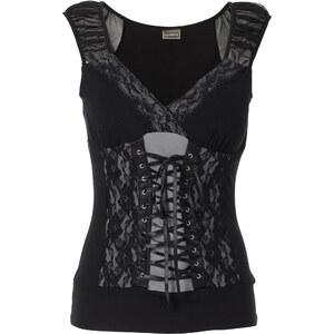 RAINBOW Corsagentop ohne Ärmel in schwarz für Damen von bonprix