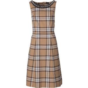BODYFLIRT Kleid mit Perleneinsatz in grau von bonprix