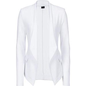 BODYFLIRT Shirtblazer langarm in weiß für Damen von bonprix