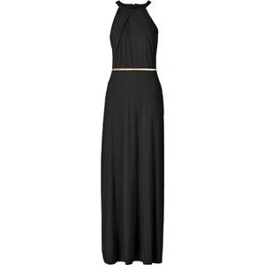 BODYFLIRT Maxi-Kleid mit Gürtel ohne Ärmel in schwarz von bonprix