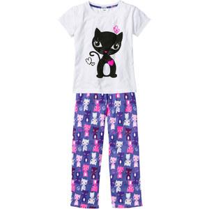 bpc bonprix collection Pyjama (2-tlg.), Gr. 92/98-176/182 in weiß für Mädchen von bonprix