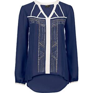 BODYFLIRT boutique Bluse mit Nieten in blau von bonprix