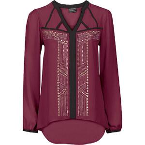 BODYFLIRT boutique Bluse mit Nieten in lila von bonprix