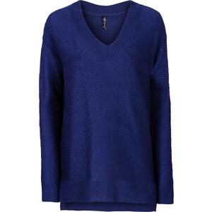 RAINBOW Oversized Pullover langarm in blau für Damen von bonprix